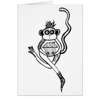 sock monkey hälsningskort