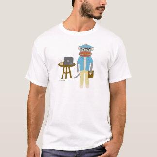 Sock monkeyförfattare t-shirts