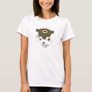 Sock monkeyomfamningar tee shirt