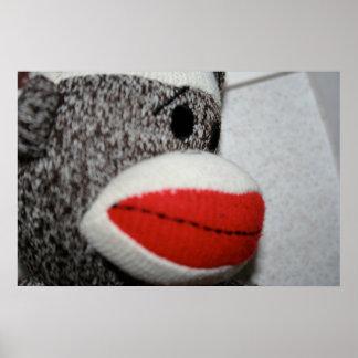 Sock monkeytryck poster