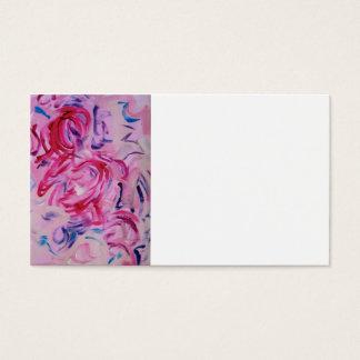 Socker Plommon-Räcker målad abstrakt konst Visitkort