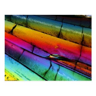 Socker under ett mikroskop vykort