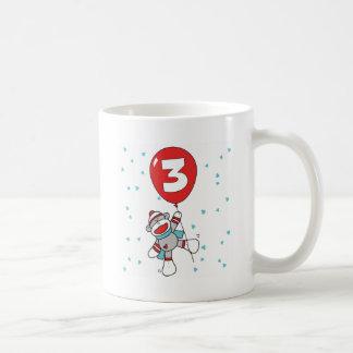 Sockmonkey 3rd födelsedag kaffemugg