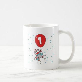 Sockmonkey första födelsedag kaffemugg
