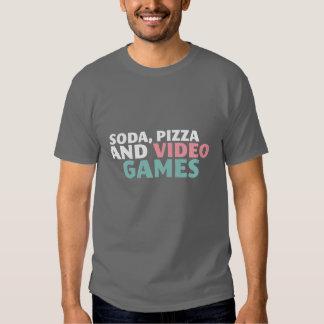 Sodavatten, Pizza och videospelrolig tröja för