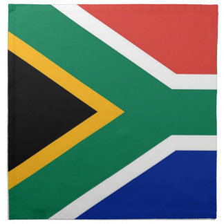Södra - afrikansk flagga på den MoJo servetten Tygservett