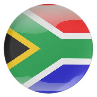 Södra - afrikansk glansig flagga tallrik