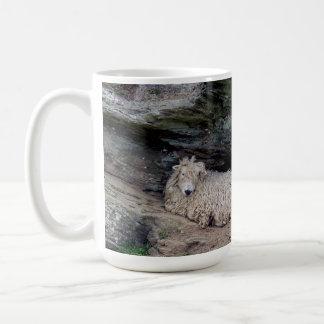 Södra beskydda för familj för Devon långt ullfår Kaffemugg