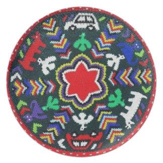 Södra - dekorativ afrikansk väv pläterar tallrik