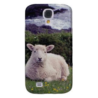Södra Devon Lamb som vilar på den avlägsna kusten Galaxy S4 Fodral