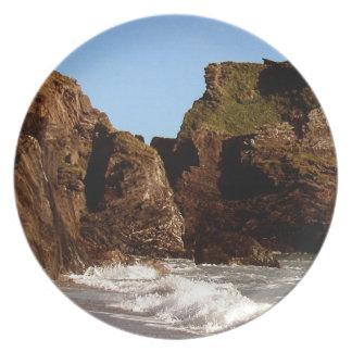 Södra Devon Westcombe strand Tallrik