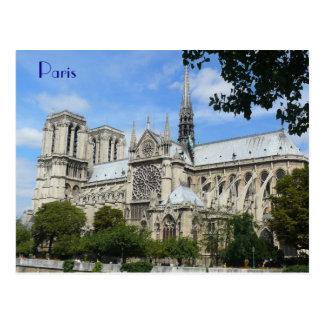 Södra Facade, Notre Dame domkyrka, Paris, Vykort