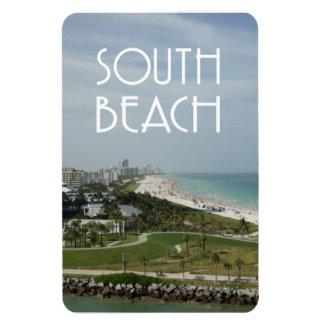 Södra foto för strandMiami horisont Magnet