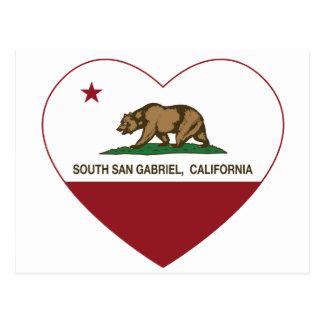 södra gabriel för Kalifornien flagga hjärta Vykort