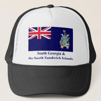 Södra Georgia & den södra smörgåsöflagga Truckerkeps