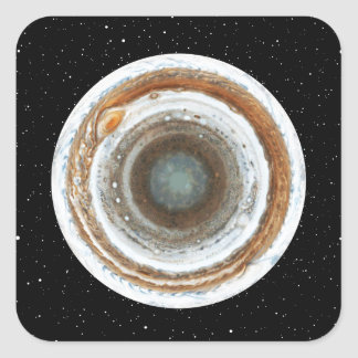 Södra Jupiter Fyrkantigt Klistermärke