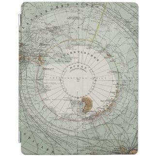 Södra karta för polar region iPad skydd