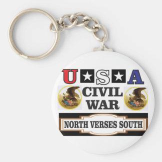 Södra norr verses för USA inbördeskrig Rund Nyckelring