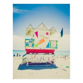 Södra strand för livräddaretorn |, Miami Vykort