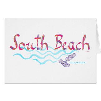 Södra strandMiami flinflip flops Hälsningskort