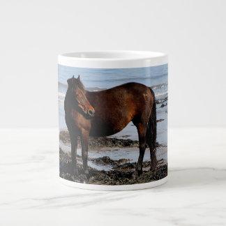 Södra tittar Devon strandDartmoor ponny Jumbo Mugg