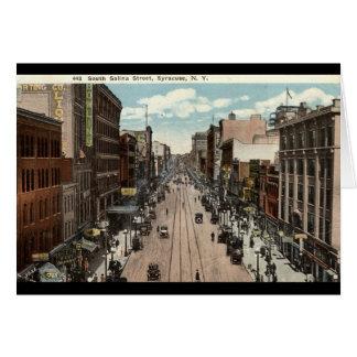 Södra vintage 1917 för SalinaSt Syracuse NY Hälsningskort