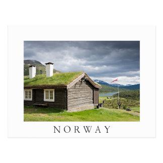 Sodtak loggar kabinen i vykort för norgevittext
