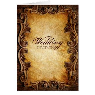 Sofistikerad elegant western vintage bröllop hälsningskort