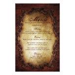 Sofistikerad elegant western vintage bröllopmeny anpassningsbara brevpapper