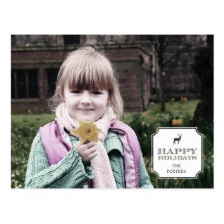 Sofistikerad vykort för kort för märkrehelgdagfoto