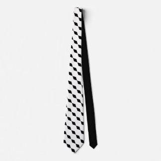 Sofistikerat motiv för eleganssvartdiamant slips