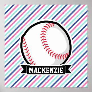 Softball; Blått, rosor & vitrandar, sportar