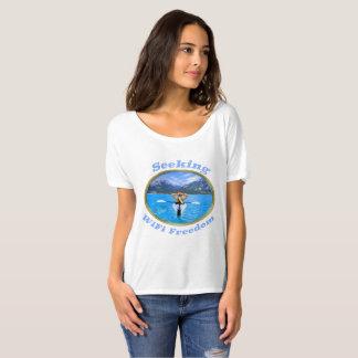 Sökande design för WiFi frihetsKayaker T-shirts