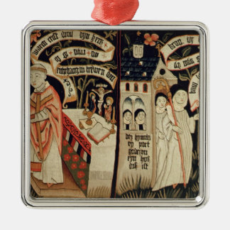 Sökandet efter sanning, tysk, c.1490 julgransprydnad metall