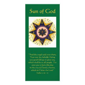 """Sol av gud 001, """"och ängeln sade unto dem,… reklamkort"""