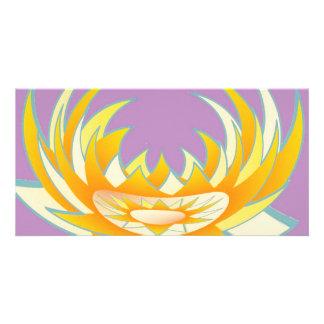 Sol Chakra för lotusblomma n:  GOODLUCK-designer Anpassade Foto Kort