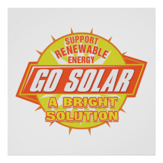 Sol- energilösning poster