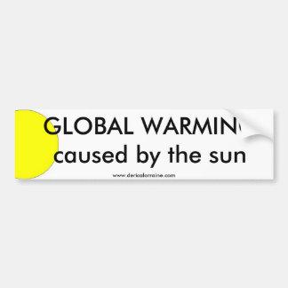 Sol för global värme bildekal