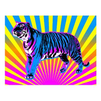 Sol för resning för tiger för Corey tiger80-tal Re Vykort