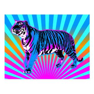 Sol för resning för tiger för Corey tiger80-tal Vykort