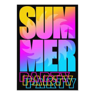 Sol för sommar för Corey tiger80-tal 12,7 X 17,8 Cm Inbjudningskort
