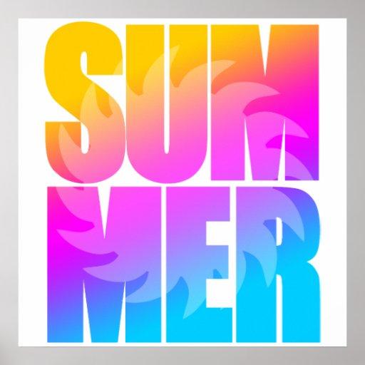 Sol för sommar för Corey tiger80-tal Print