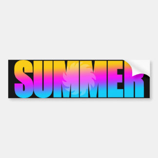 Sol för sommar för Corey tiger80-tal Bildekal