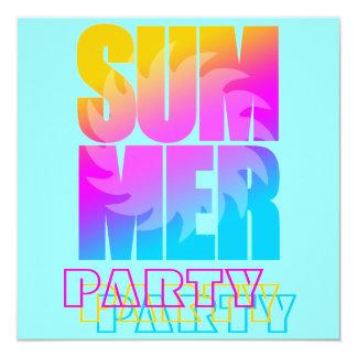 Sol för sommar för Corey tiger80-tal Fyrkantigt 13,3 Cm Inbjudningskort