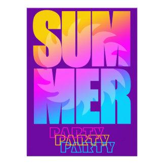 Sol för sommar för Corey tiger80-tal Inbjudningskort