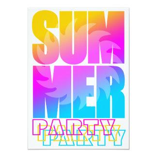 Sol för sommar för Corey tiger80-tal Skräddarsydda Inbjudan