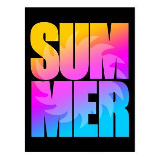 Sol för sommar för Corey tiger80-tal Vykort