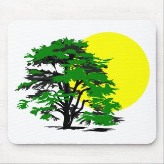 Sol för trädSilhouetteinställning Musmatta