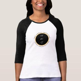 Sol- förmörkelse 2017 för underbar t shirt