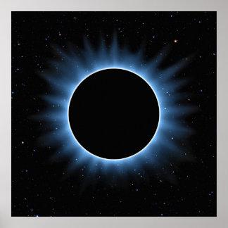 Sol- förmörkelseaffisch poster